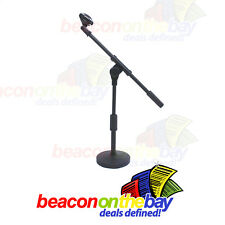 Desktop Adjustable Microphone Mic Stand Heavy Base Podcast Bass Drum Guitar Amp