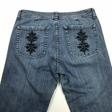 WHBM Womens Jeans Embroidered Pockets Tag Size 6x30