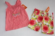 Gymboree Desert Dreams Girls Size 7 Flower Shorts Bunny Top Shirt NEW NWT