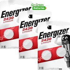 6 x Energizer CR2430 3V Lithium Coin Cell Battery Expiry 2029 *New Packs*ECR2430