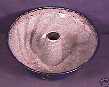 RARE Cobalt / Grey Graniteware Bundt Pan