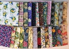 """Charm Squares Floral Prints 54  x 4"""" Quilt Fabric Patchwork Flowers"""