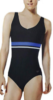 box17) Speedo Womens Empire Splice Swimsuit One-1-Piece Black Size XXL NWT
