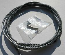 Gaine de cable couleur chrome 2M5 pour velo fixie cruiser course ville VTT BMX