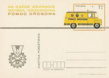 Poland prepaid postcard (Cp 577) motorization