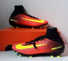Nike Mercurial Veloce III DF FG Crimson Volt Black 831961-870 Men's Size 9.5 NEW