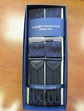 Albert Thurston Negro Moire tirantes de un tamaño accesorios de color plata