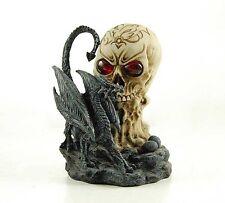 Gothic Dragon on Skull - Colour Changing LED Skull Eyes