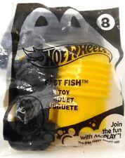 McDonald's Hot Wheels #8 FAST FISH Happy Meal Toy NIP 2014 Yellow Car