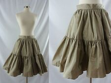 Ralph Lauren Blue Label Silk Tiered Peasant Full Circle Skirt Small Size 2