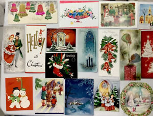 89 VINTAGE CHRISTMAS GREETING CARD LOT #77 - JUNK JOURNAL - CHRISTMAS, SCRAPBOOK