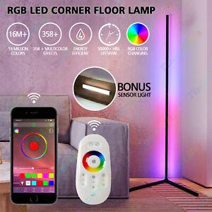 RGB Corner Floor Lamp Modern Colour Minimalist LED Standing Light Mood Lighting