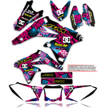 2001 - 2012 SUZUKI RM 125 250 DECALS NIGHT RIDER : MAGENTA / CYAN GRAPHICS