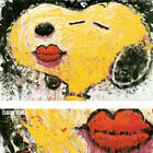 """26W""""x17H"""" DOG LIPS by TOM EVERHART - SNOOPY CHARLIE BROWN GANG CHOICES of CANVAS"""
