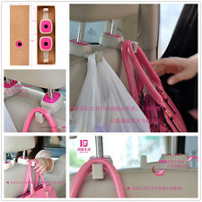 2 Pcs Car Back Seat Headrest Pink Hanger Holder For Bag Purse Clothes For Toyota