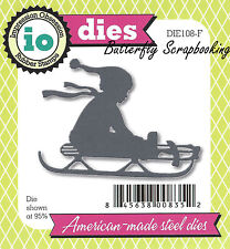 Winter Sleigh Sled American Made Steel Die Impression Obsession DIE108-F New