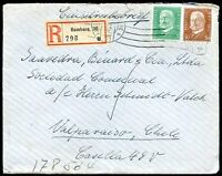 GERMANY TO CHILE Air Mail Registered Cover 1929 VF
