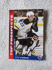 Boston Bruins Joe Colborne Signed 10/11 AHL Top Prospects Providence Card Auto