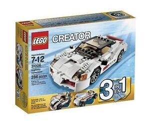 LEGO CREATOR 31006 Highway Speedster 3 in 1 286 PCS RACE CAR TOW TRUCK