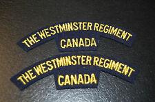 THE WESTMINSTER REGIMENT CANADA Shoulder Flashes