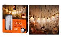 Halloween Fantasma 10 Luci LED Stringa Casa Festa Indoor Outdoor Decor 10 FANTASMI