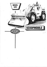 Moore Scoopmobile LD3 operators & workshop manual book chassis photocopy