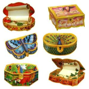 36 Butterfly and Exotic Birds Trompe-l'oeil Box Greeting Cards (EG)