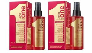 2 x Revlon Uniq 1 All in One Red Hair Treatment Spray 150ml (Pack of 2 )