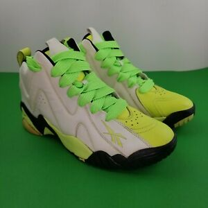 Reebok Kamikaze II Mid Neon Yellow They Glow In The Dark Size 8 V51846 Lime Time