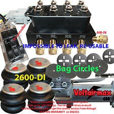 "Air Ride Suspension Manifold Valve 1/2"" Air Bag kit Control bags/brkts"