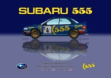 Greetings card Subaru Impreza 555 1995 #4 McRae / Ringer WC Version 2