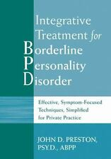 Integrative Treatment for Borderline Personality Disorder: Effective,