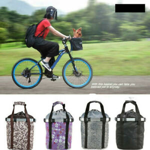 Foldable Bicycle Oxford Fabric Basket Pet Carrier Detachable Travel Bag new