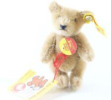 """Steiff 0213/10 Original Teddybar Mohair 4"""" Tall W/ Button ca 1970s/1980s +Tag"""