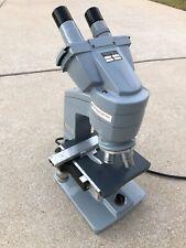 AO American Optical One-Fifty Binocular Compound Microscope 4 Objectives School