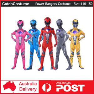 Power Rangers Kids Boys/Girls Jumpsuit Cosplay Bodysuit Costume Halloween
