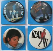 Michael Jackson Lot (4) Badge Badges Pinback Button Buttons OFFICIAL 1984 NEW