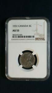 1931 Canada Nickel NGC AU55 ABOUT UNCIRCULATED 5C Coin PRICED TO SELL RIGHT NOW!