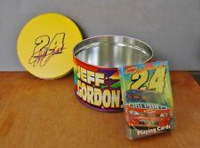 Jeff Gordon NASCAR Tin Box & Playing Card Deck Sealed Bicycle Brand Motorsports