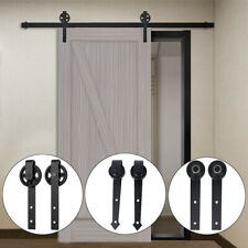 Aluminum Sliding Barn Door Hardware Rollers Track Rail Pulley Hanging Wheel Kits
