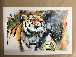 Lora Zombie 'Mr Tiger' paper art print