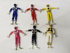 "Rare 1990s Mighty Morphine Power Rangers Rubber Wired 5"" Action Figure Lot Of 6"