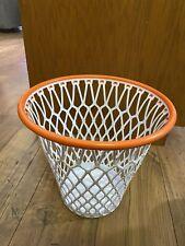 "SPALDING BASKETBALL HOOP Hoopster Waste Paper Basket Trash Can Laundry ""12"