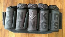 Black Bunker King Strapless Paintball Pod Pack 5x8 Harness