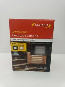 NEW IN BOX MALIBU DECK LIGHT BLACK /COPPER CL9054 Z1