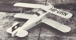 Giant 1/4 Scale Bucker Jungmann BU-131 Biplane Plans,Templates,Instructions 73ws
