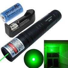 5Miles 5mw Green Laser Pointer 532nm Pen Lazer Light Beam Military+16340 Battery