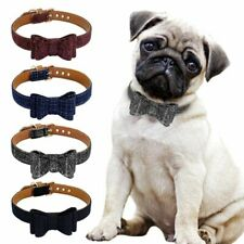 Collar Dog Adjustable Bowknot Pet Cat Necklace For Chihuahua Pug 1pc Black Red