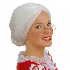 Mrs Claus Wig Adult Santa Costume Christmas Fancy Dress