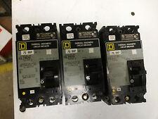SQUARE D FAL24070 Circuit Breaker 70 Amps 2 Poles 480 VAC 480 VAC 5B820
